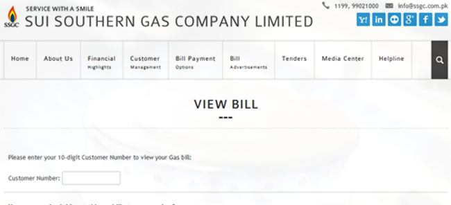 Check, Print & Search Your SSGC Sui Gas Duplicate Bill